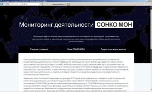 Скриншот вебсайта проекта по мониторингу СОНКО